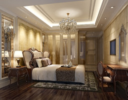 3D bedroom architectural