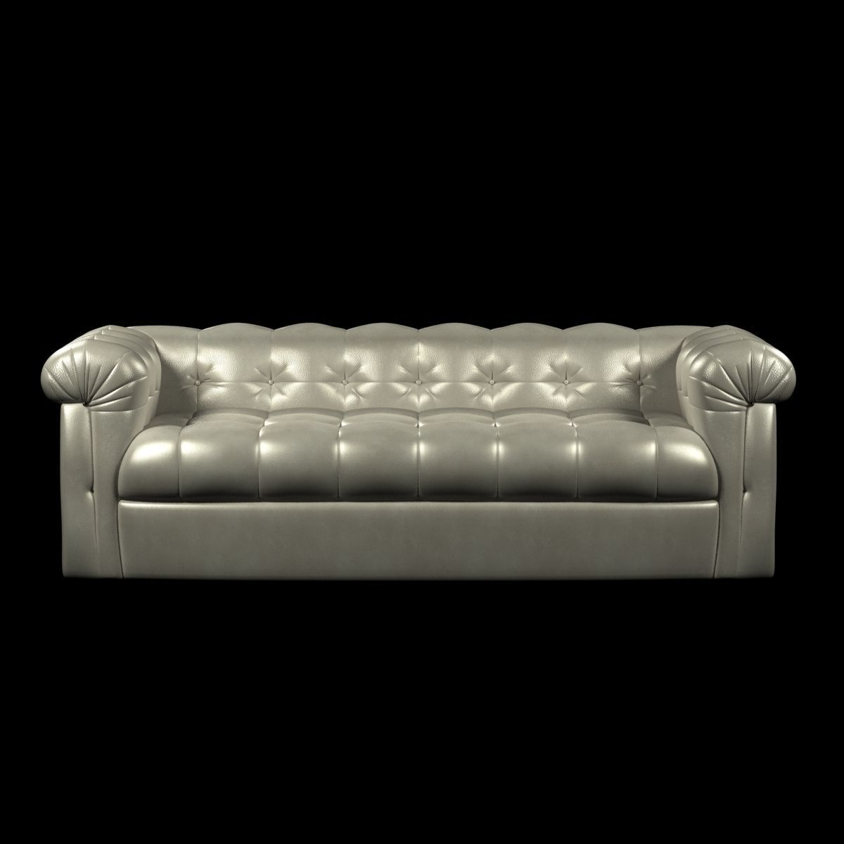 Edward Wormley Dunbar Six Foot Tufted Leather Sofa 3D model MAX