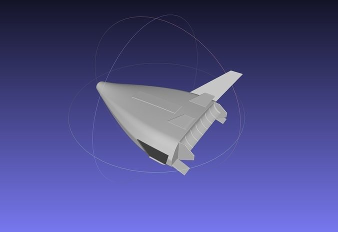 venture star x-33 ssto concept miniature 3d model obj mtl 3ds dxf stl dae sldprt sldasm slddrw 1
