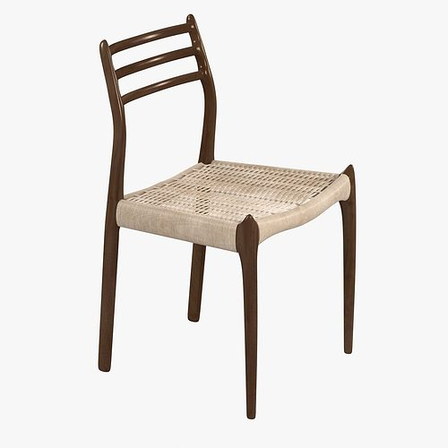 Dwr Moller Model 78 Side Chair 3D Model