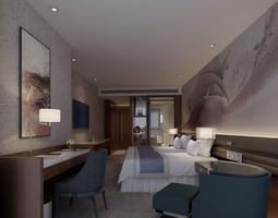 3D Bright bedroom