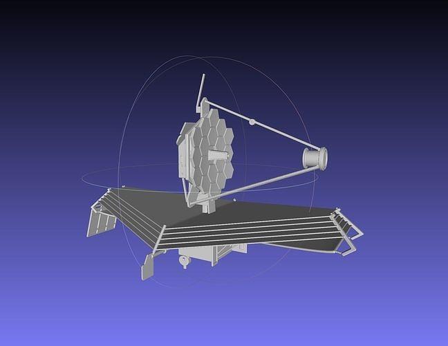 james webb space telescope jwst basic model 3d model obj mtl dxf stl dae sldprt sldasm slddrw ige igs iges 1