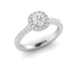 3D printable model cushion cut diamond ring