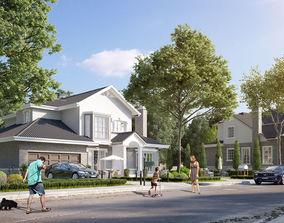 3d model cottage house vr ar low poly max obj mtl 3ds fbx