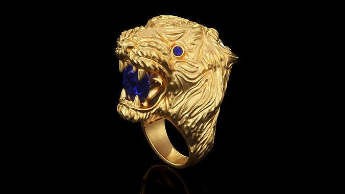 tiger ring r br 0004 3d model obj mtl 3ds 3dm 1