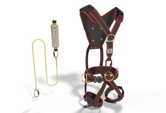 climbing equipment security harness  3d model low-poly obj mtl fbx dae 1