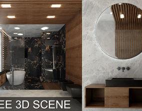 Bathroom Scene 3D Models Free - Video Timelapse in the 1