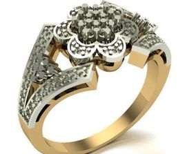 printable WOMAN RING 3D print model