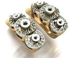 diamond 3D printable model WOMEN EARRINGS