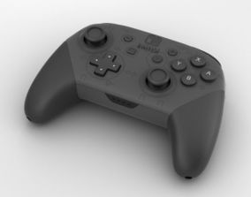 3D model Nintendo Switch Pro Controller