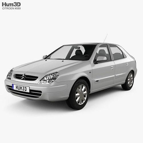 citroen xsara 5-door hatchback 2000 3d model max obj mtl 3ds fbx c4d lwo lw lws 1