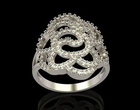 Diamond ring design 6 3D printable model
