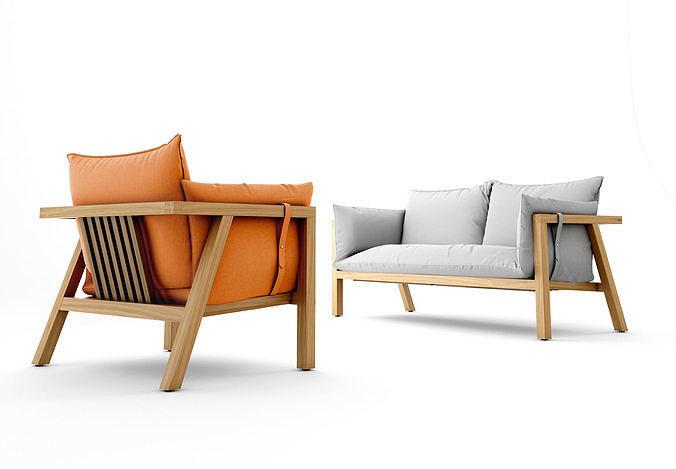 3d Model Prostoria Umomoku Sofa And Armchair Outdoor
