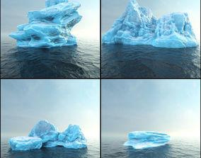 Photorealistic V-Ray render ready Iceberg kit 3D asset
