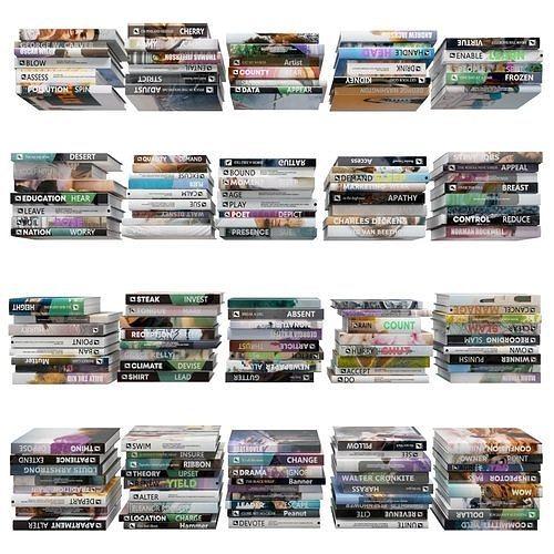 books 150 pieces 1-5-2 3d model max obj mtl fbx stl 1
