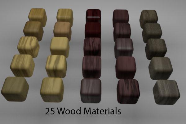 Wood Materials Pack 1 for C4D R20 | 3D model