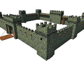 3D asset Medieval Castle