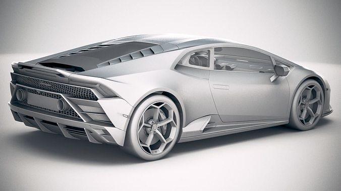 3d Lamborghini Huracan Evo 2019 Cgtrader
