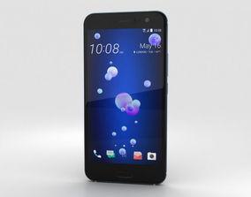 HTC U11 Amazing Silver 3D model lcd