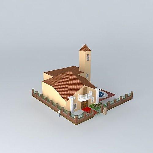 3d model dream house cgtrader for Dream house 3d