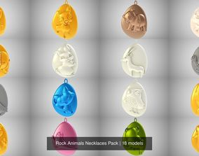 3D model Rock Animals Necklaces Pack