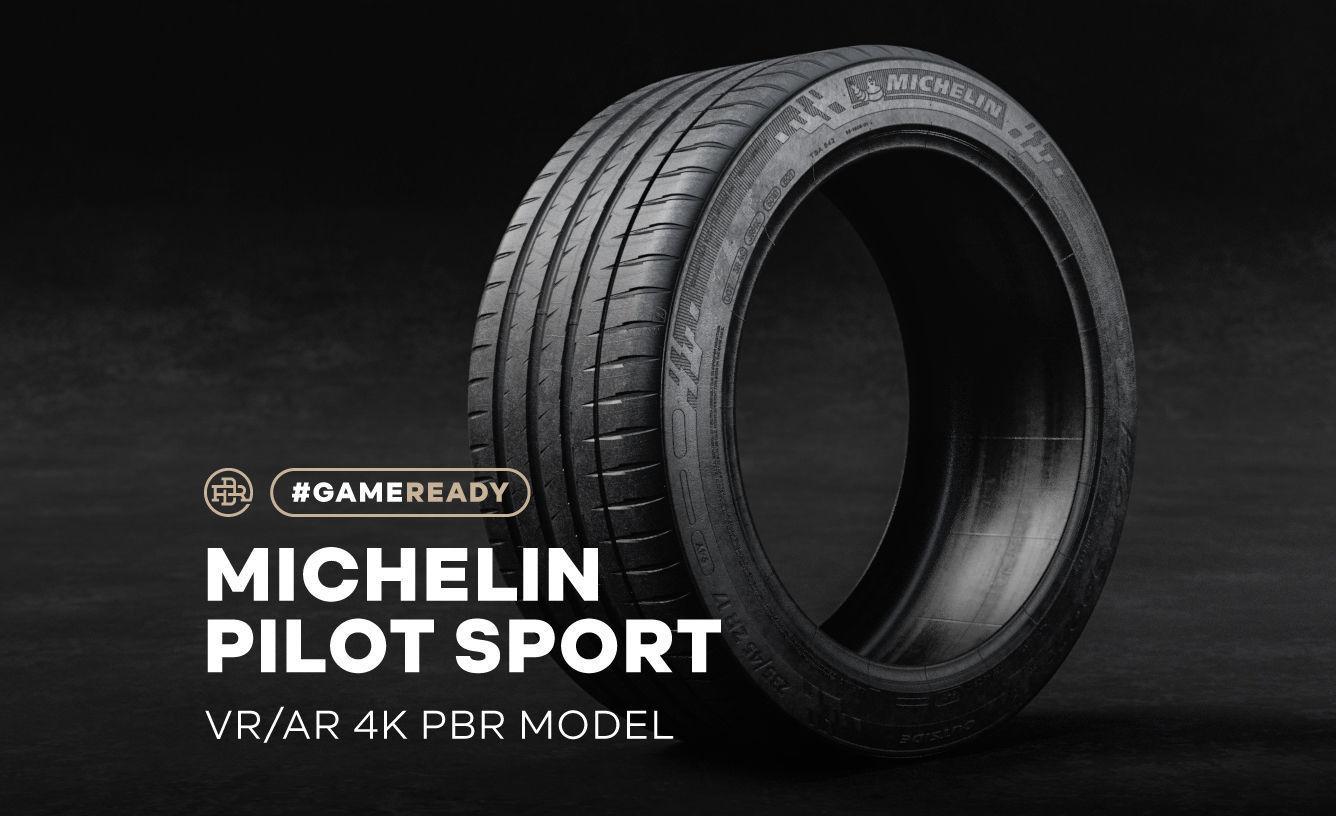 Michelin Pilot Sport >> Michelin Pilot Sport Tire 4k Pbr 3d Model