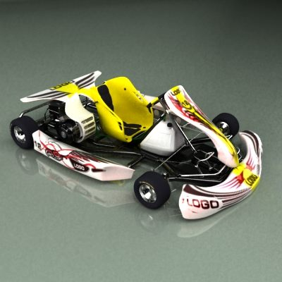 go kart 3d model max obj 3ds fbx 11