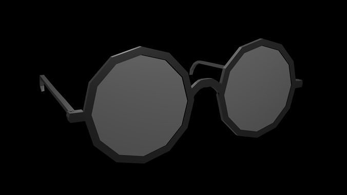 low poly spectacles 3d model low-poly obj mtl 3ds fbx stl blend x3d 1