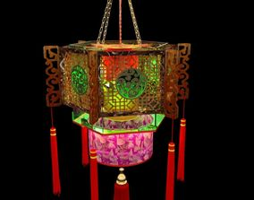 Chinese palace lantern decoration 3D model
