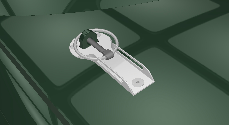 Bonnet racing locks