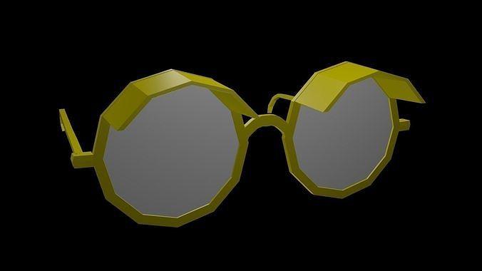 low poly spectacles 1 3d model low-poly obj mtl 3ds fbx stl blend x3d 1