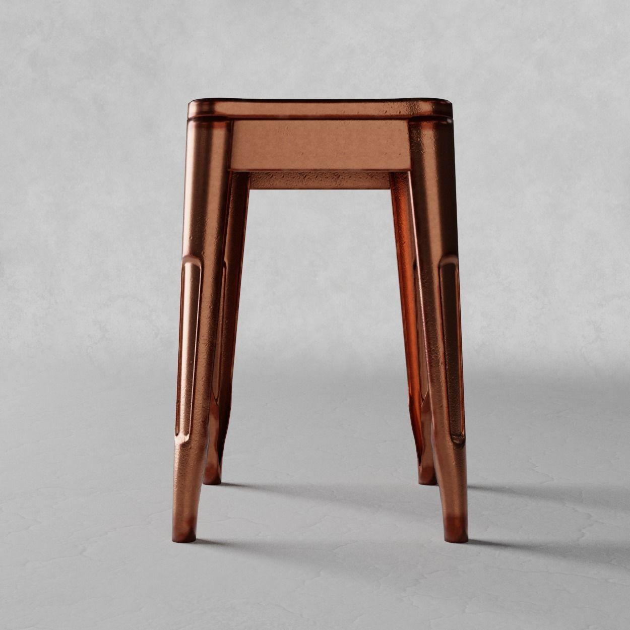 Swell Stool Metal Bronze 3D Model Machost Co Dining Chair Design Ideas Machostcouk