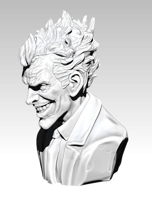 The Crazy Joker Bust Detailed Realistic