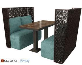 3D model Bench islamic