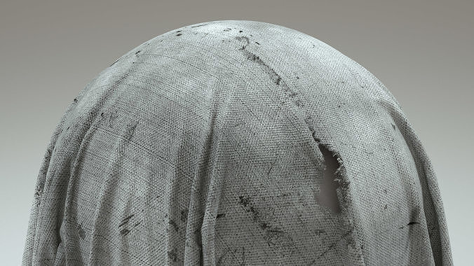 torn fabric 4k 3d model  1