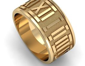 ring with roman numerals 3D printable model