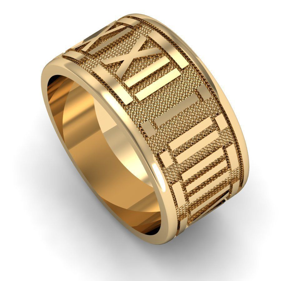ring with roman numerals