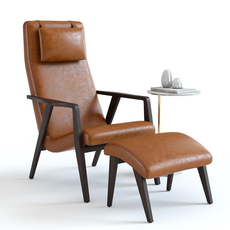 Fine West Elm Contour Lounge Chair 3D Model Creativecarmelina Interior Chair Design Creativecarmelinacom