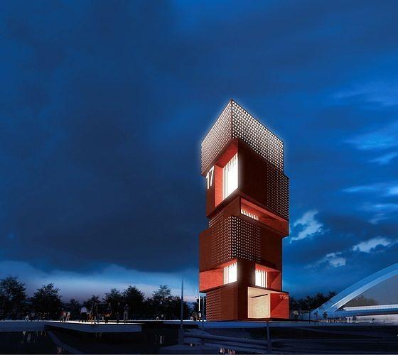 lighthouse 3d model obj mtl skp 1