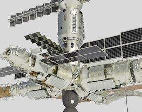 3D Mir space station