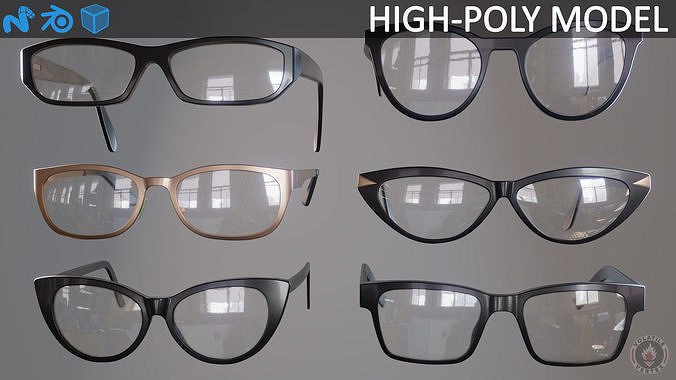 bb22fc1cf7 Glasses Eyewear and Spectacles 3D model