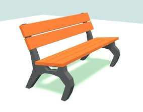 Low poly Park Bench by RICHARD HIND 3D model