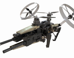 3D Sci-Fi Military Drone Vehicle