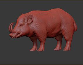 real 3D printable model Babyrousa boar