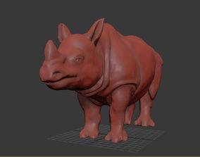 mammal 3D printable model Asian Rhinoceros