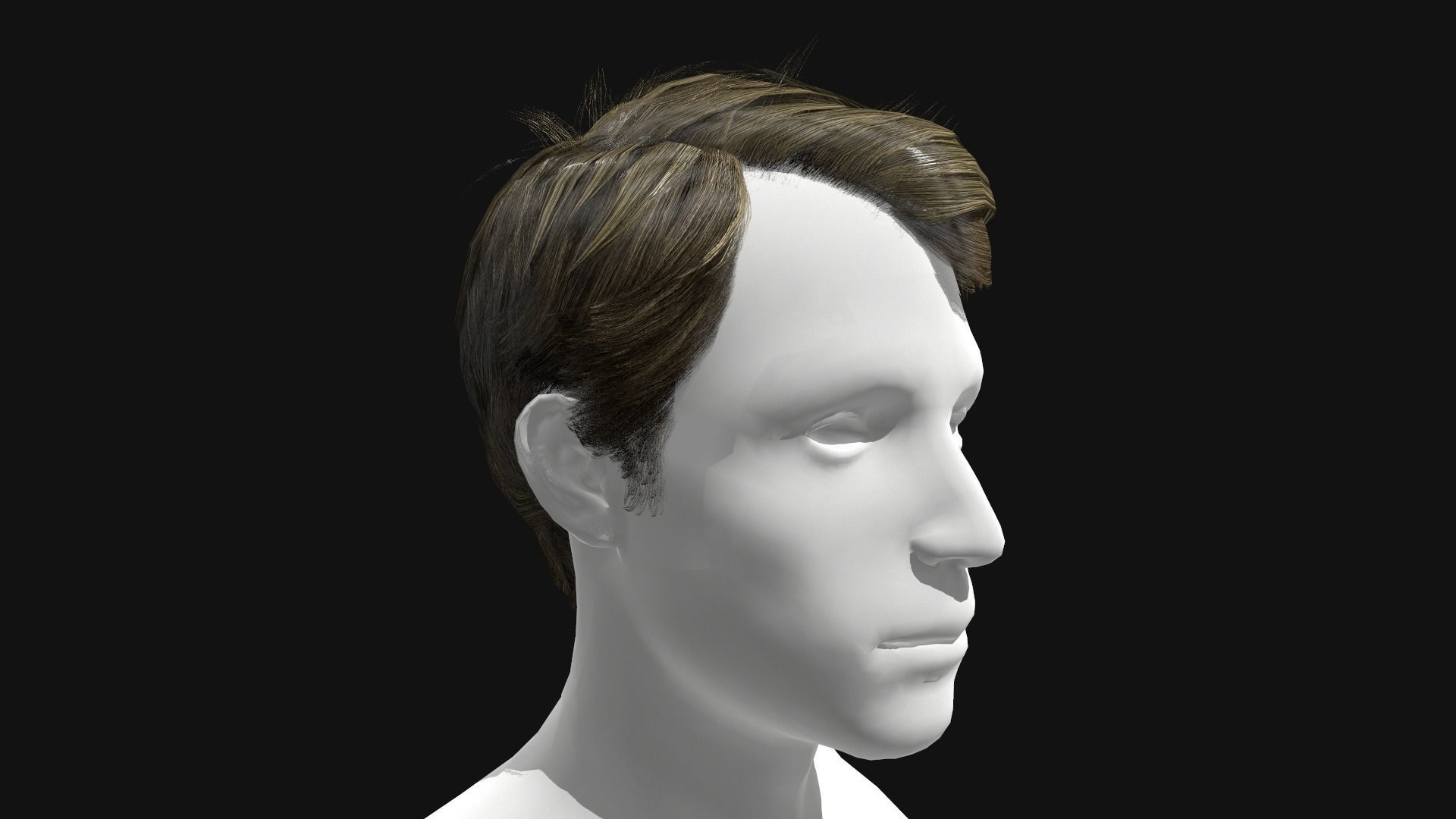 3D Hair Male Side Part Hairstyle