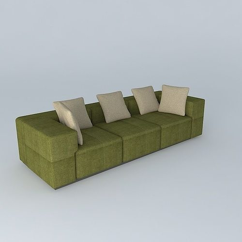 green sofa 3d model max obj 3ds fbx stl dae 1