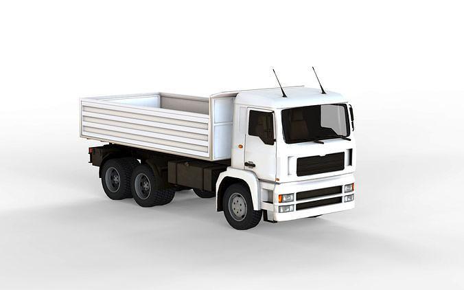 truck 3d model max obj mtl fbx c4d 1
