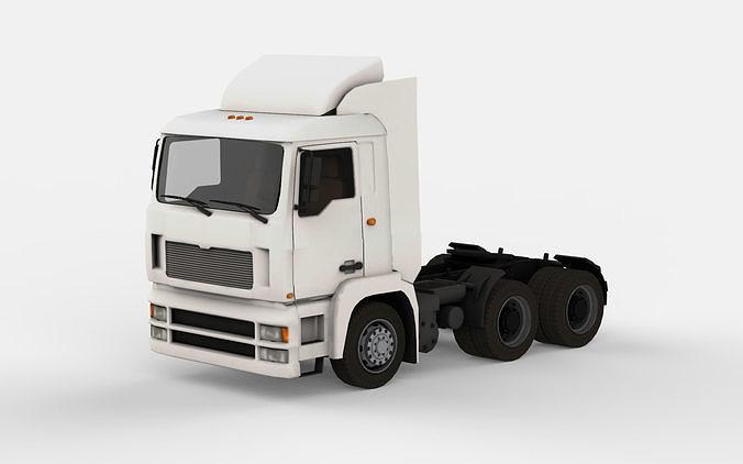 truck 2 3d model max obj mtl fbx c4d 1