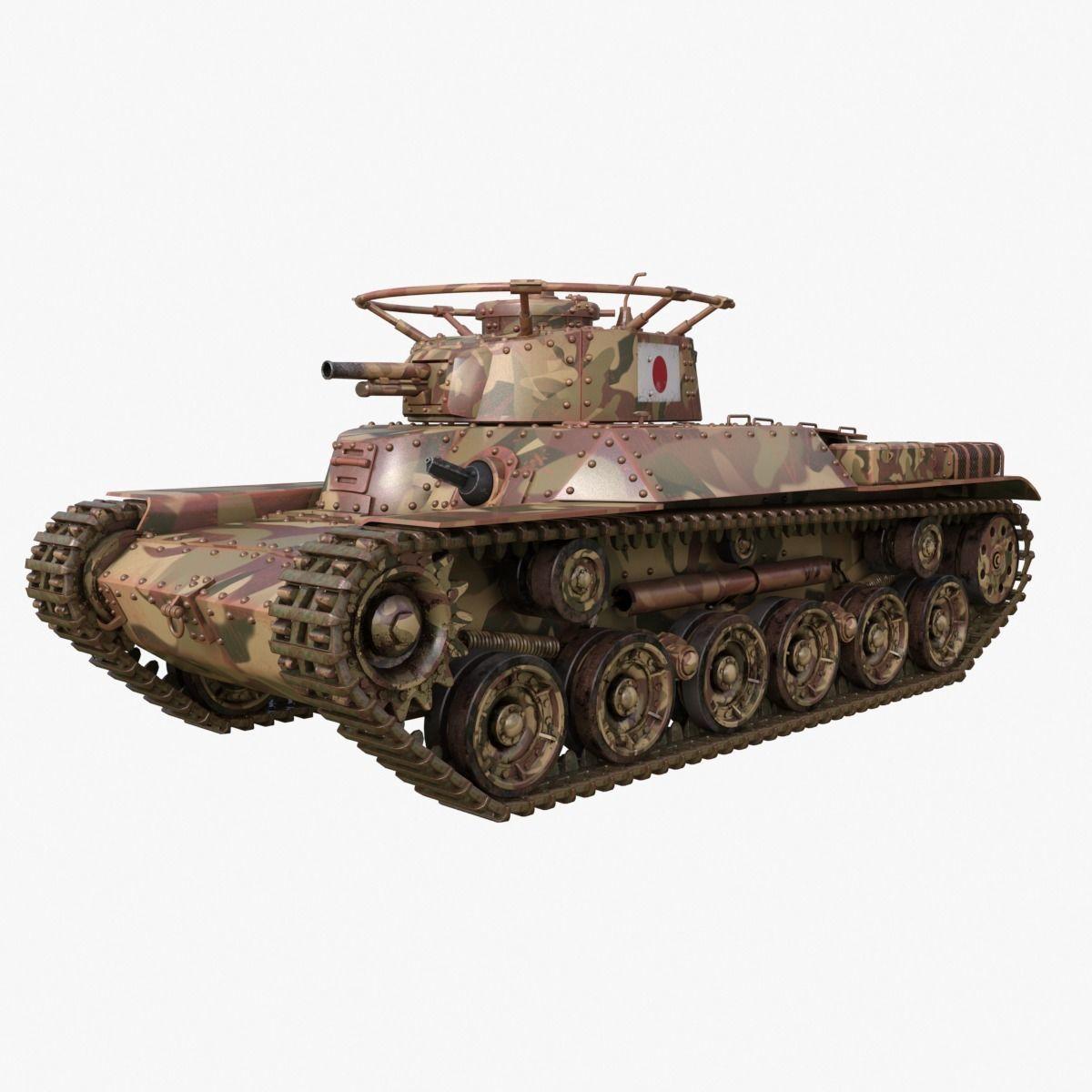 Tank Type 97 Chi Ha Japan Mental Ray